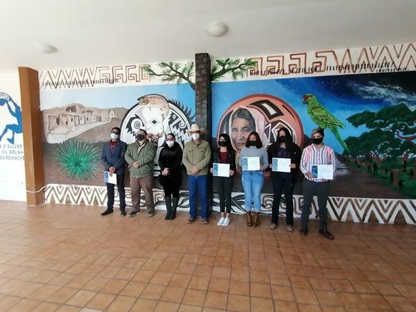 SE REALIZA MURAL REPRESENTATIVO DEL MUNICIPIO DE MADERA EN GIMNASIO MUNICIPAL