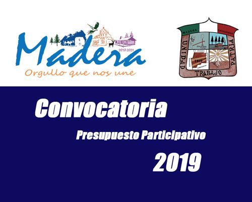 Convocatoria Presupuesto Participativo 2019