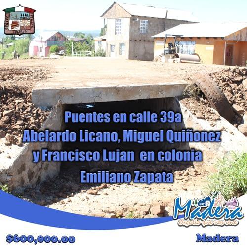 Puentes-en-calle-39a,-Abelardo-Licano,-Miguel-Quiñonez-y-Francisco-Lujan-en-colonia-Emiliano-Zapata