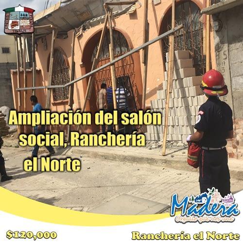 Ampliación-del-salón-social,-Rancheria-el-Norte